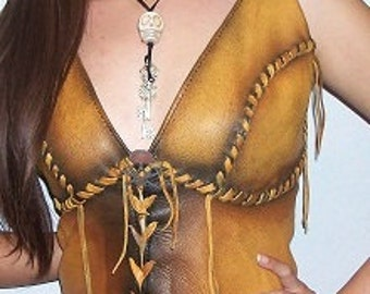 Leather Corset Bustier Custom Renaissance Steampunk Pirate Corsette Handmade by Debbie Leather