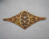 Unusual Vintage Ornate Brass Stamping