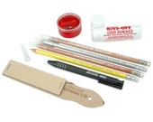 Survival Kit, Fabric Marking, Chalk Pencils, Eraser, Kiss Off Remover, Quilters, Quilters Gift, Sewers Gift, Sewing Notion, Quilting Tool