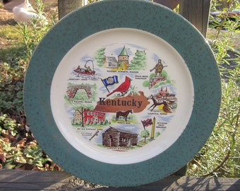 Vintage Souvenir Plate - Kentucky