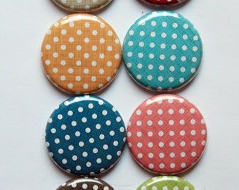 Linen Polka Dots Small Flair