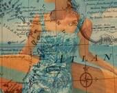 """Blue Wahini (12"""" x 18"""")"""