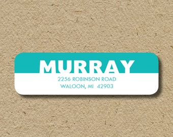Custom return address labels, self-adhesive address stickers, personalized labels in any color
