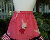 My Carrie Custom A-Line Skirt made wtih Olivia the Pig Fabric