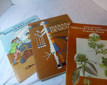 Pirates and Buccaneers North American Indian Design Tress of the Northeast Dover Publishing Coloring Books
