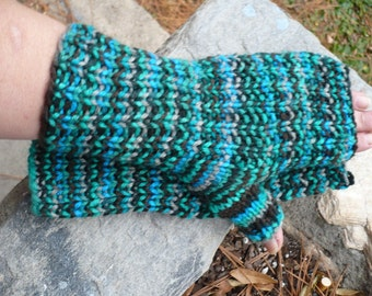 Tropical Storm --- fingerless gloves -- medium