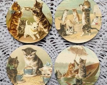 Hello, Kitty -- Cat Mousepad Coaster Set