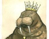 The Walrus Queen  (an original hand painted queen)   Goo goo goo joob....