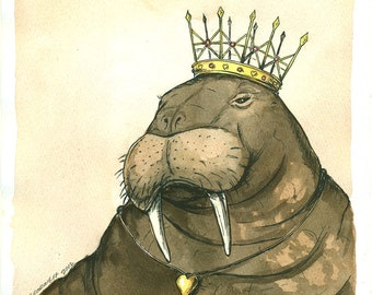 The Walrus Queen  (an original hand painted queen)   Goo goo goo joob....