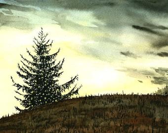 A Warm December - Watercolor print-
