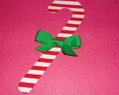 Fabric Applique Pdf TEMPLATE Pattern ONLY TALL Christmas Candy Cane