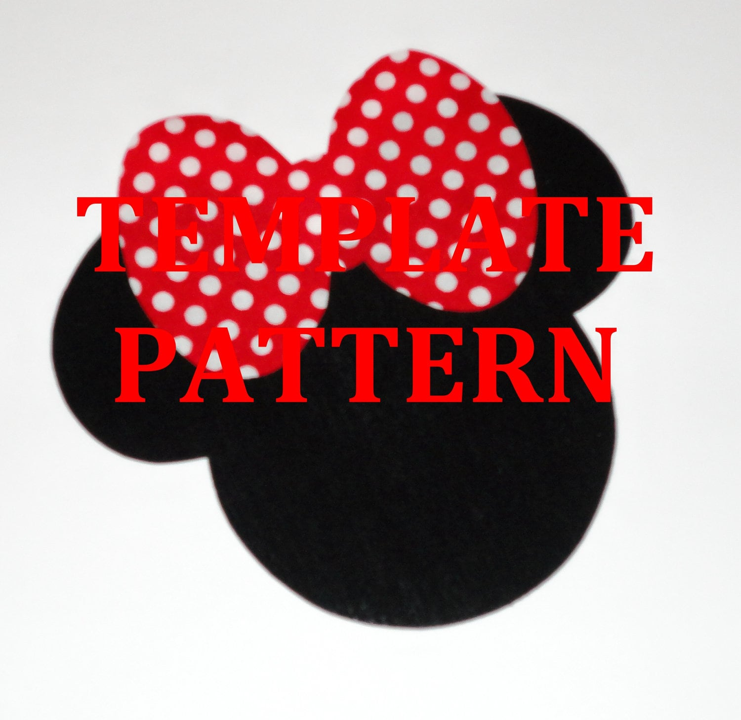 Applique PDF TEMPLATE Pattern Only...Big Bow Minnie