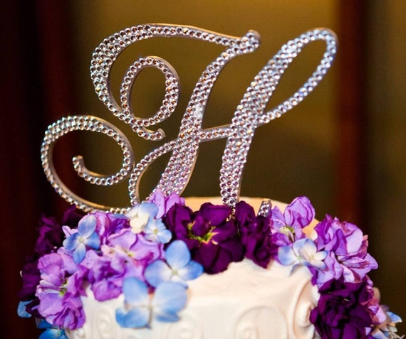 5 monogram cake topper any letter from the alphabet