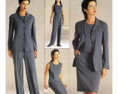 Donna Karan Top Skirt  Jacket pants sewing pattern Vogue 2333 Sz 8 to 12 Vogue American Designer