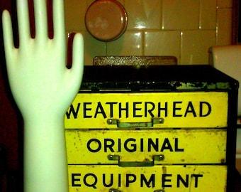 Vintage Porcelain Glove Mold Industrial Salage Small