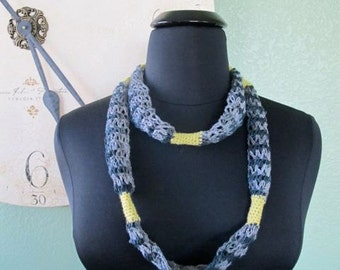 Linen and Lace Necklace - PDF Crochet Pattern