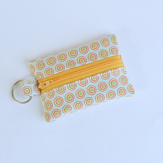 Small Zippered Pouch, Credit Card Holder, Business Card Holder, Bulls Eye
