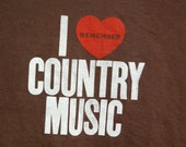 I Remember Country Music screenprint T-Shirt