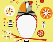 zebra finch large limited edition print