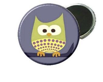 Magnet - Green Owl