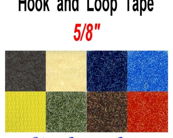 "4 YARDS - 5/8"" - Hook and Loop, Sew On - You Choose Color"
