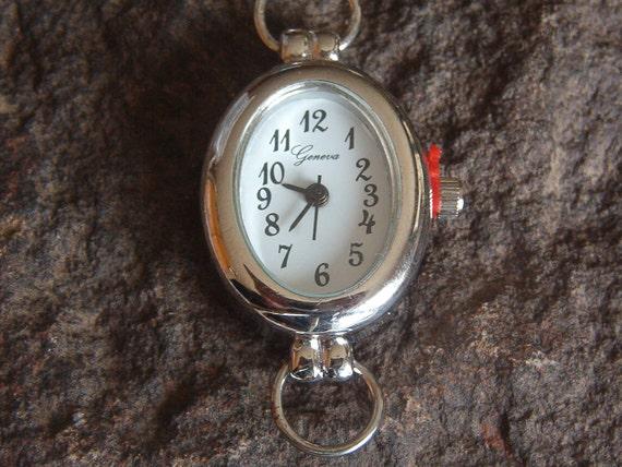 WF14 Single Watch Face in Silver Tone