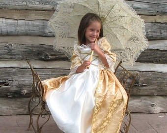 Girls French Colonial Elizabeth Swann Marie Antoinette Catherine the Great Costume Gown