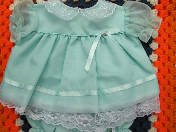 Mint Green Dress and Diaper Cover 3-6 Months