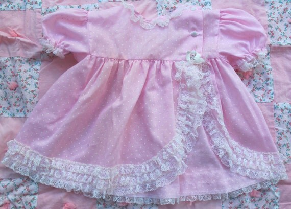 Pink Dotted Swiss 9-12 Months