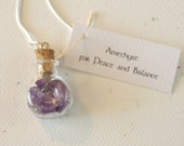 Amethyst in a Glass Vial Necklace