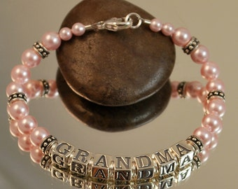 Grandma Swarovski Pearl and Sterling Silver Bracelet