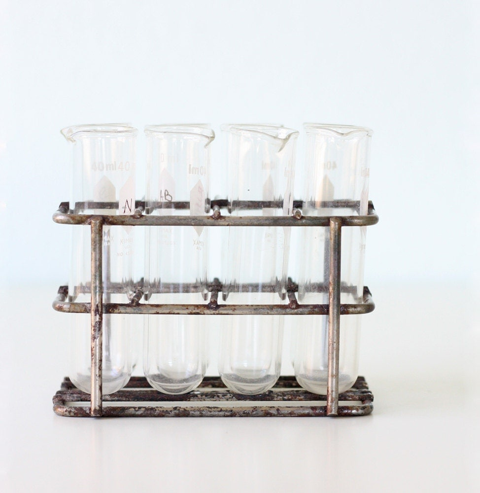 vintage test tube lab stand. Black Bedroom Furniture Sets. Home Design Ideas