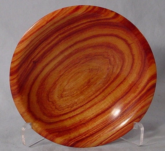 Exotic Tulipwood Ring or Coin Dish Wood Bowl number 4677 turned by Bryan Tyler Nelson is Nelsonwood