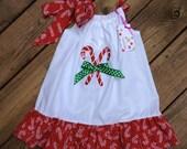 Size 3 Candy Cane Applique Dress