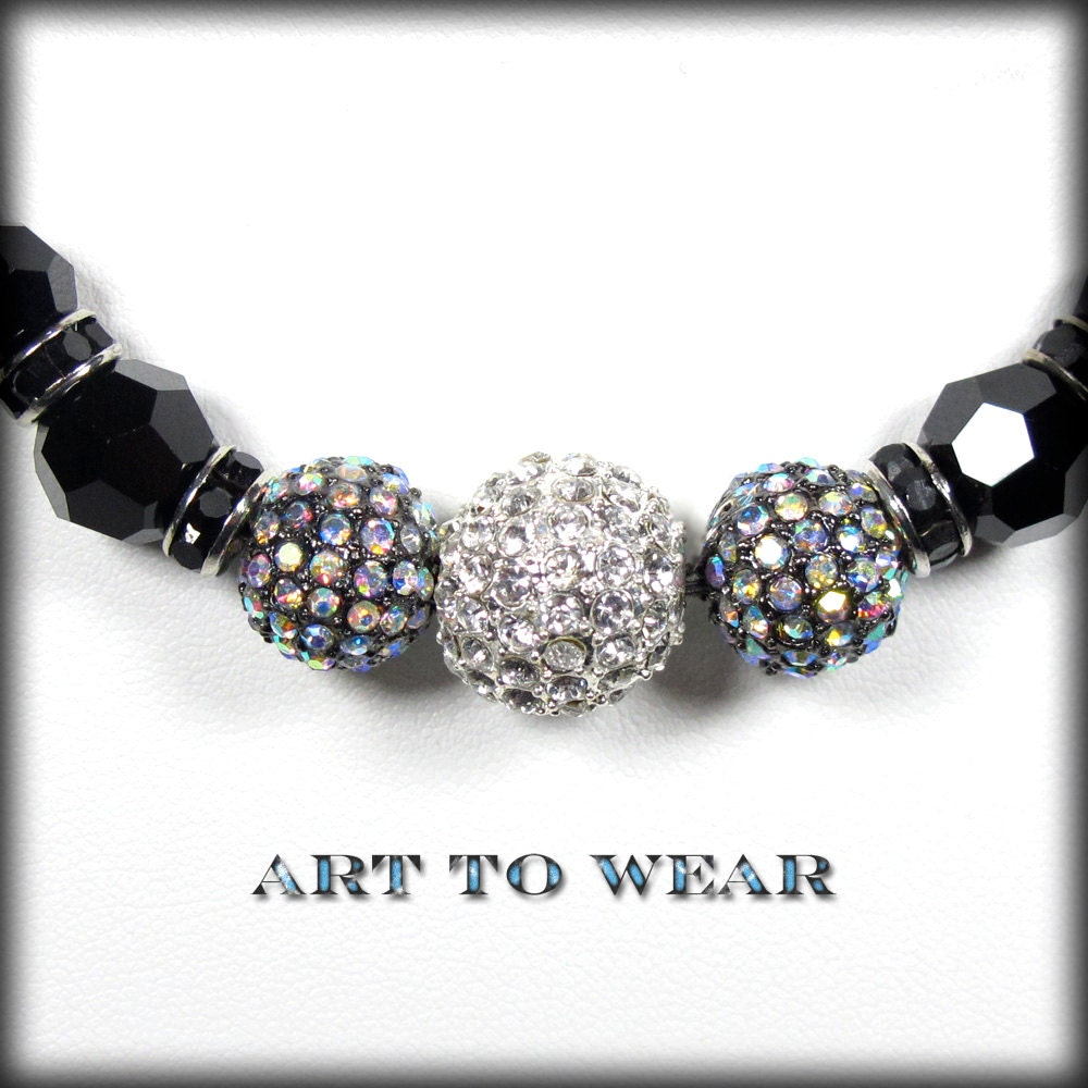 Choker Necklace Etsy: Black Choker Necklace-rhinestone Jewelry-black Rhinestone
