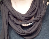Recycled Loop and Braid T-shirt Scarf