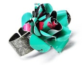Recycled Jewelry AQUA Rose Ring