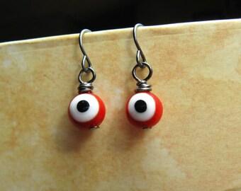 Eye Earrings - Monster Eyes - Red Eyes - I See You - Evil Eye
