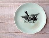 Sweet Sign // Woodland Bird // Shabby Chic Sign // Sparrow // Mint Green // Nursery Decor // Vintage Cottage Decor