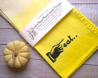 Yellow Kitchen - Cloth Napkins - Ombre - Eco Friendly - Table Napkins - Dinner Napkin - Reusable Set Of 4 - Mod Kitchen - Eat Decor - Home