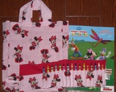 Classic minnie mouse crayon roll set