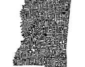 Mississippi - typography ...