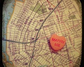 marry me williamsburg brooklyn candy heart art map ttv photo print