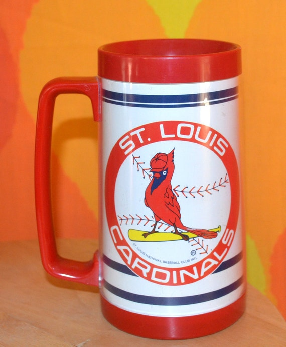 80s vintage travel insulated mug st. louis CARDINALS bud light BEER spuds mckenzie 1987 world series