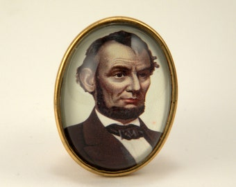 Abes A Babe Brooch Presidential Civil War Style