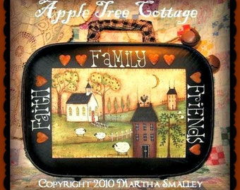 """E Pattern - Martha Smalley's Apple Tree Cottage Designs - """"Faith, Family & Friends Suitcase"""""""