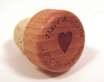 Wood Wine Bottle Stopper - Anniversary Gift