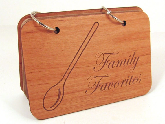 Wooden Recipe Book - Family Favorites