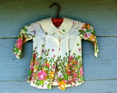 Flower Blossoms Linen Jacket 2T 3T