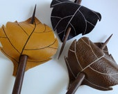 Leaf Hair Stick Barrette - Eco Friendly Leather